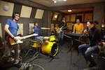 Rock Band in Rehearsal