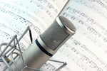 music, lyrics and microphone