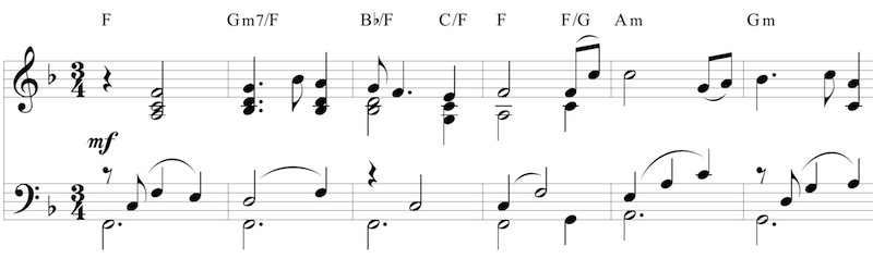 New melody from last 2 bars of Star-Spangled Banner