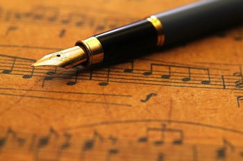 Music with fountain pen