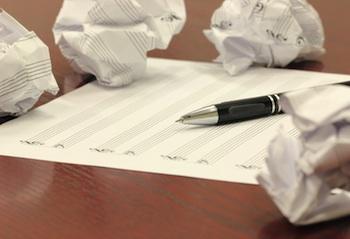 Blank sheet of musical staff paper