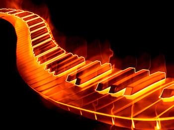 Flaming keyboard