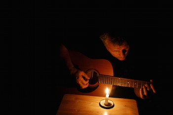 Songwriting by candlelight
