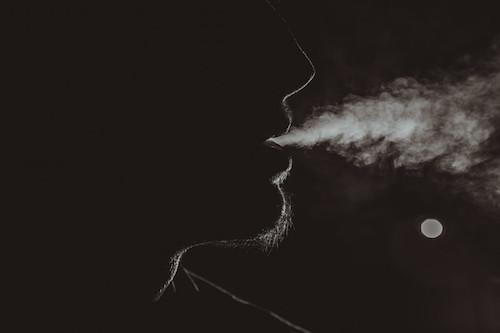 smoking musician