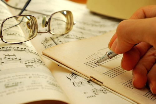 Songwriting, pen, music, lyrics
