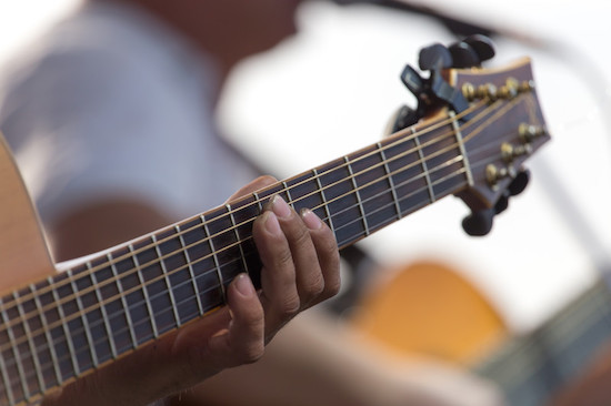 Guitar studio recording session