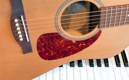 Guitar and keyboard
