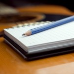 Songwriting notepad