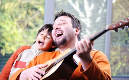 Father & son singing