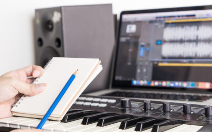 Songwriter in Home Studio