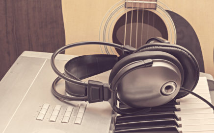 guitar - keyboard - headphones