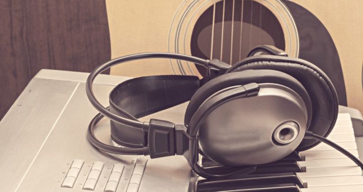 guitar - keyboard - headphones