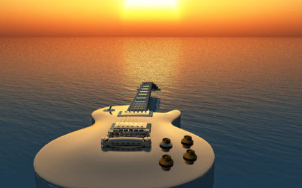 Guitar at Sunrise
