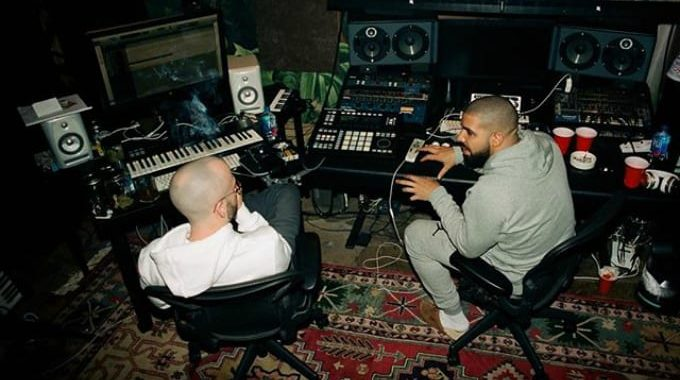 Drake in the studio
